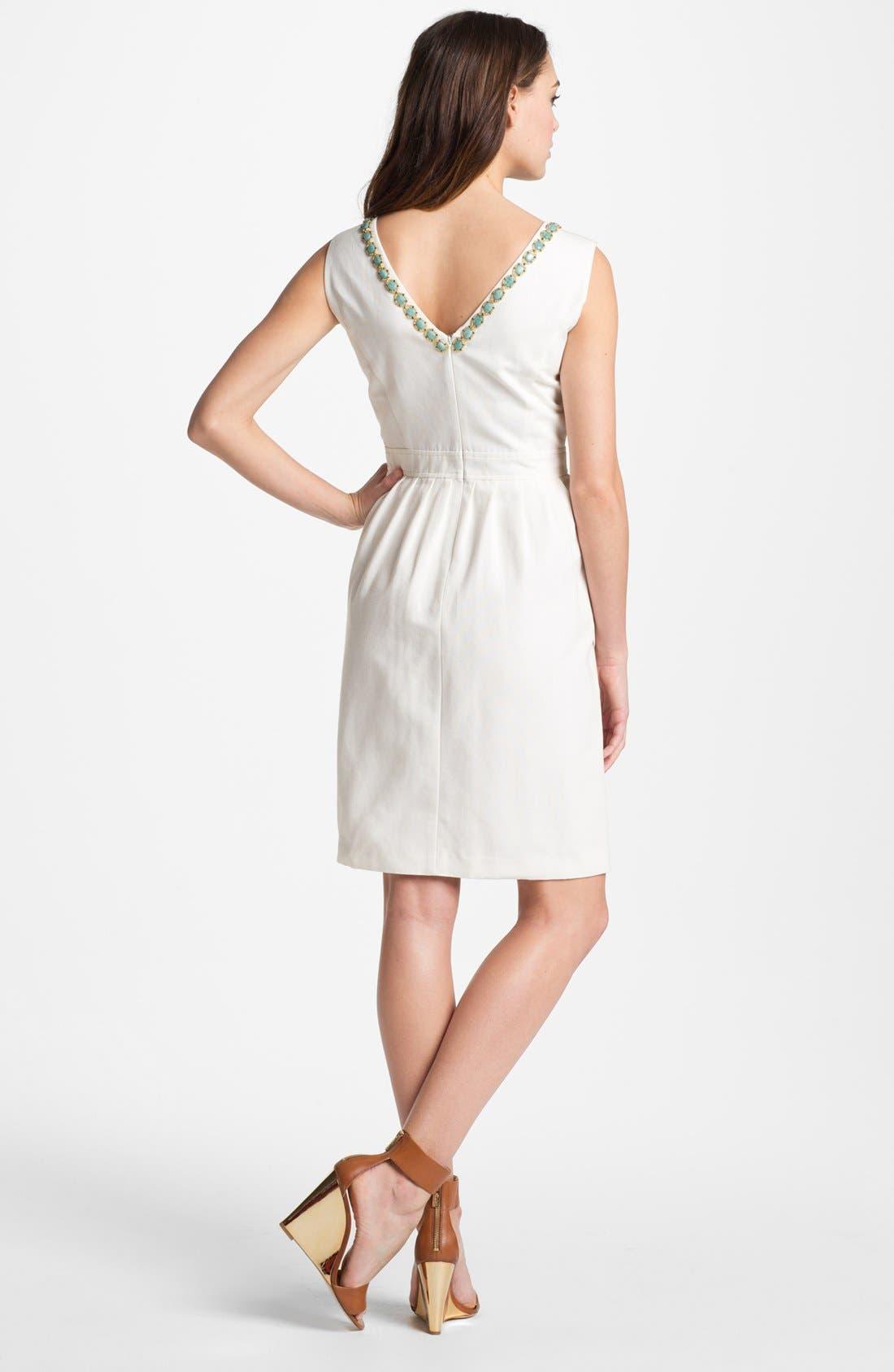 Alternate Image 2  - Ellen Tracy Embellished Fit & Flare Dress