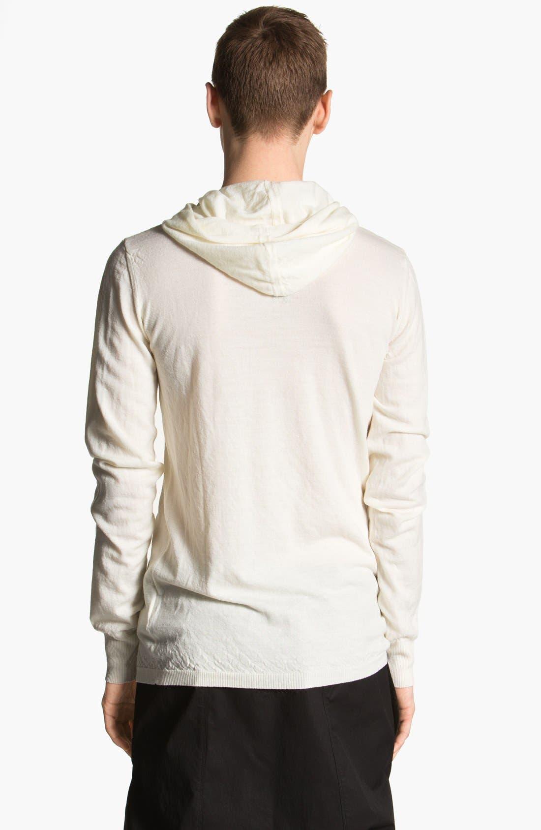 Alternate Image 2  - Rick Owens 'Island' Hooded Merino Wool Sweater