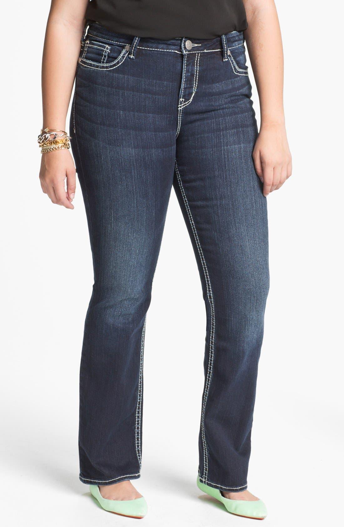 Main Image - Silver Jeans Co. 'Natsuki' Bootcut Jeans (Juniors Plus)
