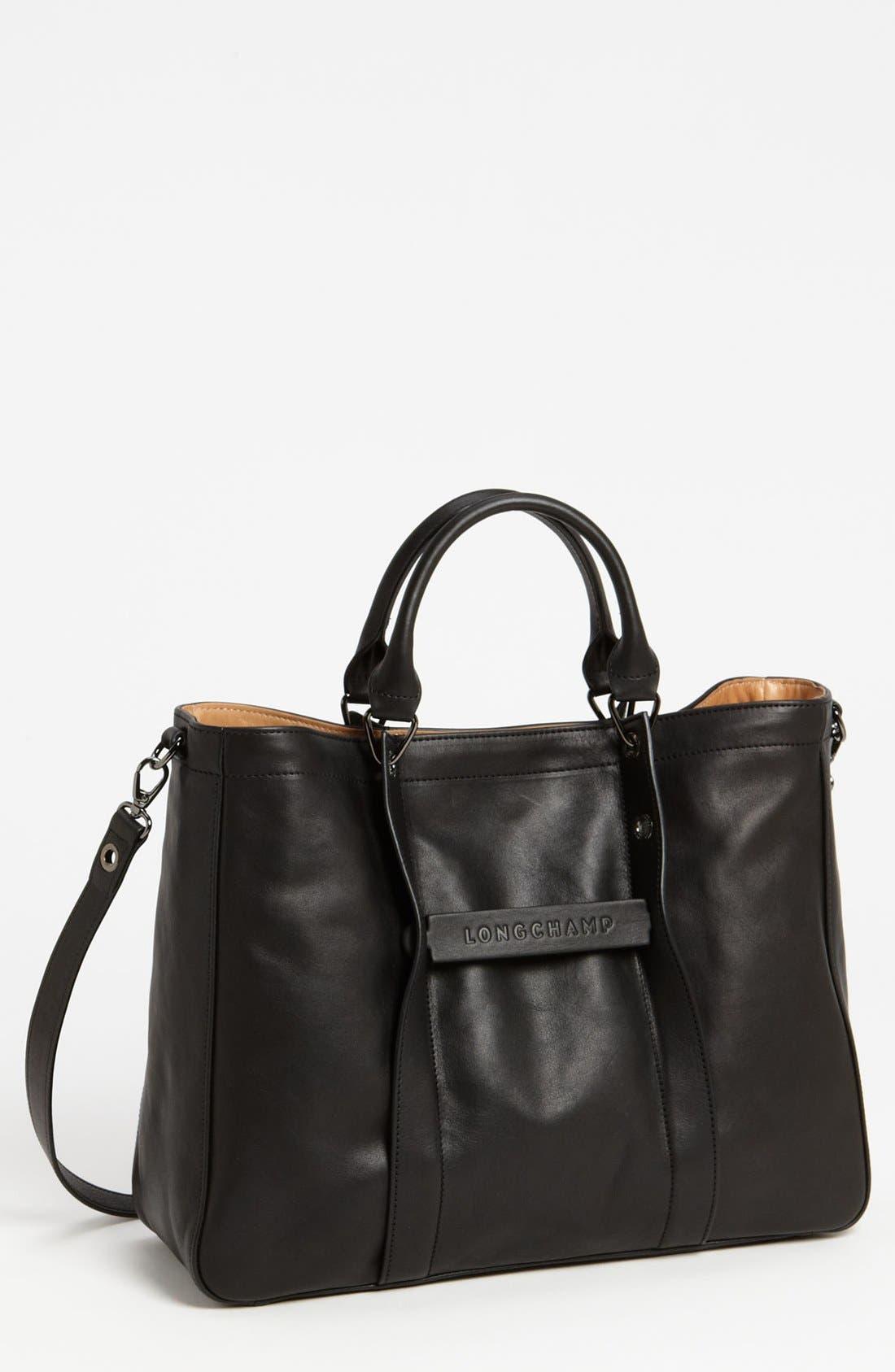 Main Image - Longchamp '3D - Large' Leather Tote