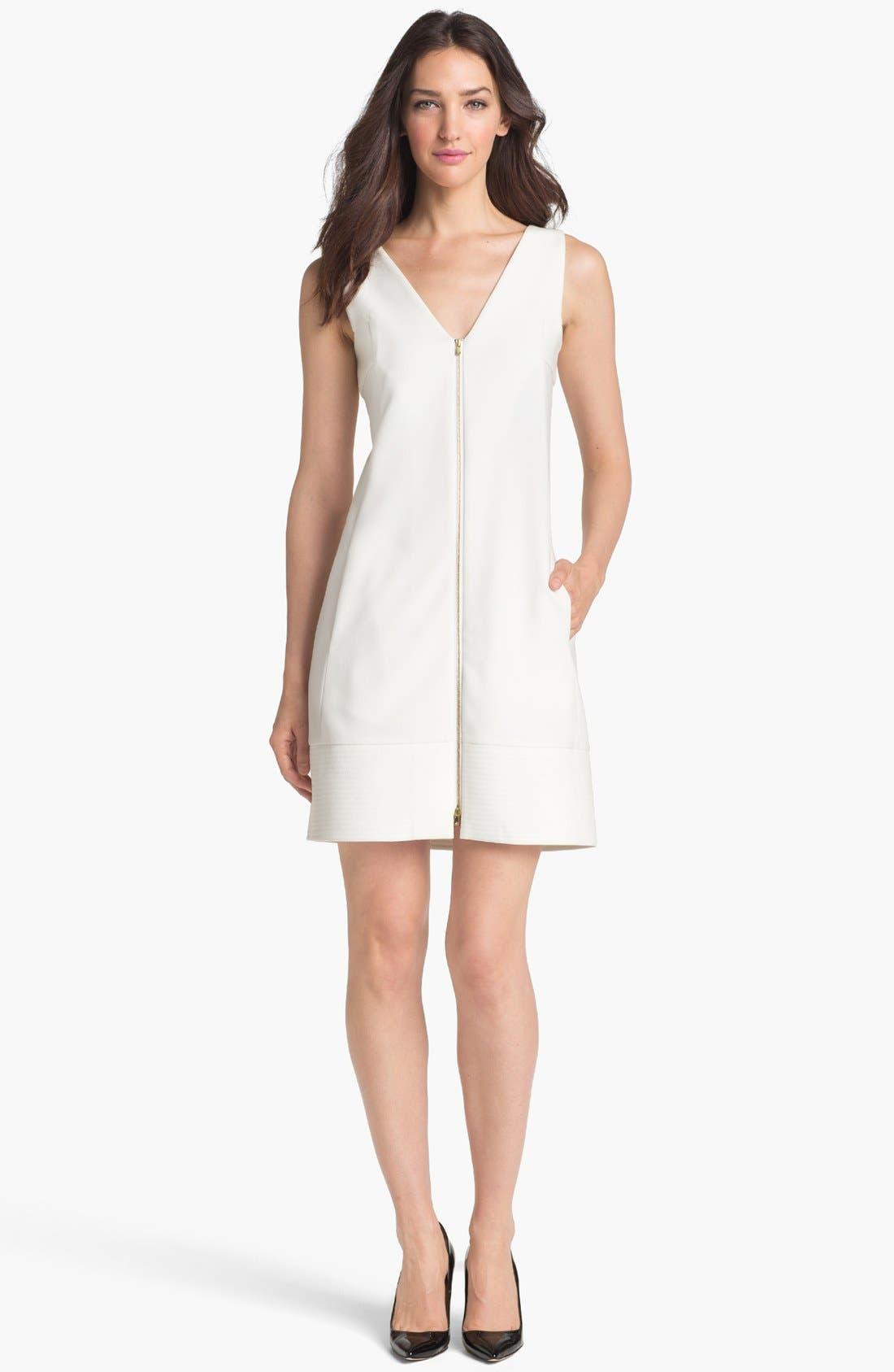 Alternate Image 1  - Rachel Roy Zip Front A-Line Dress