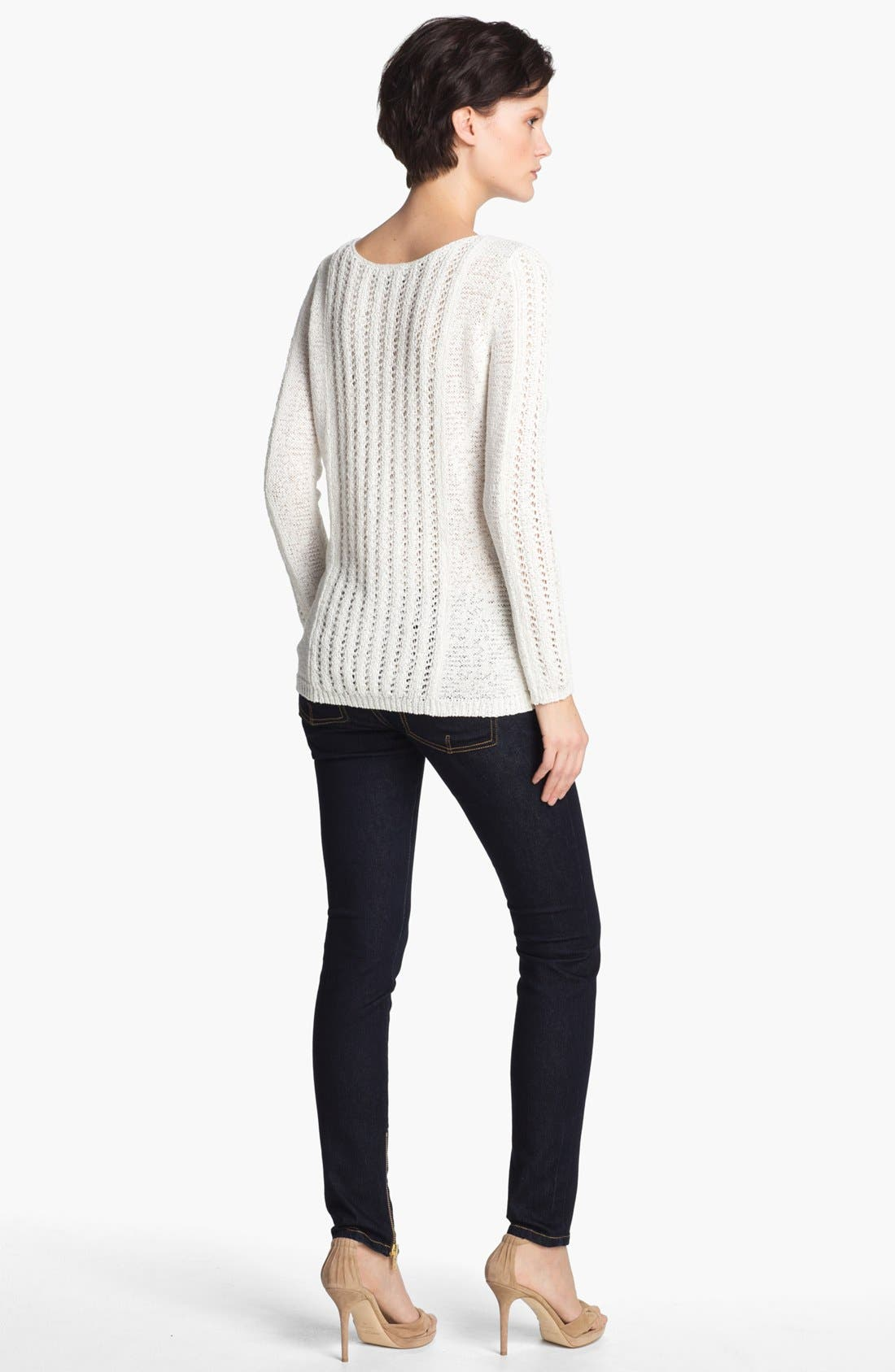 Alternate Image 2  - Rachel Zoe 'Karla' Open Stitch Tunic Sweater