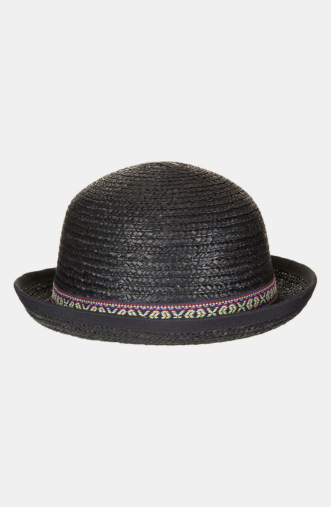 Alternate Image 1 Selected - Topshop Raffia Bowler Hat