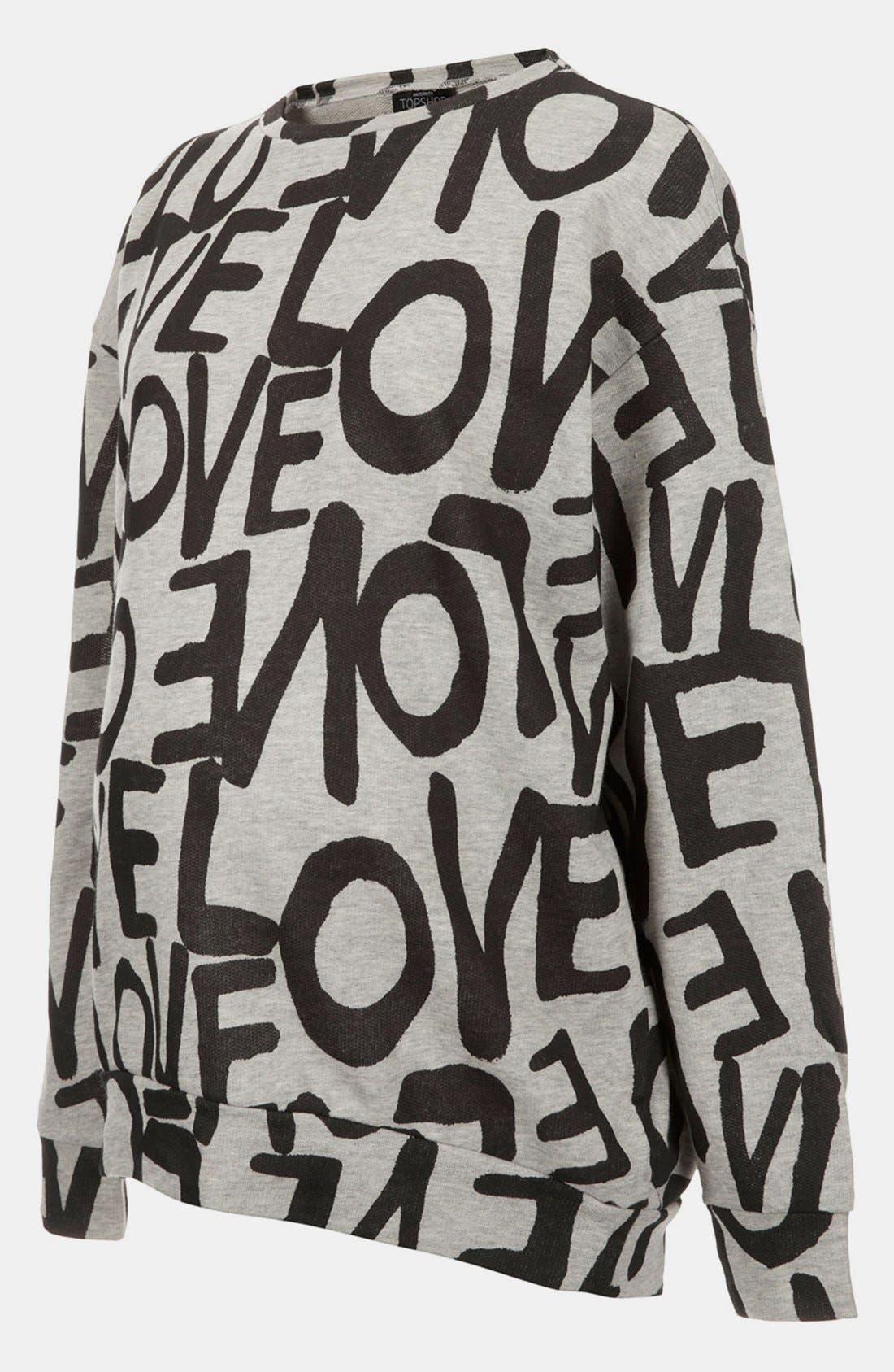 Main Image - Topshop 'Love' Maternity Sweatshirt