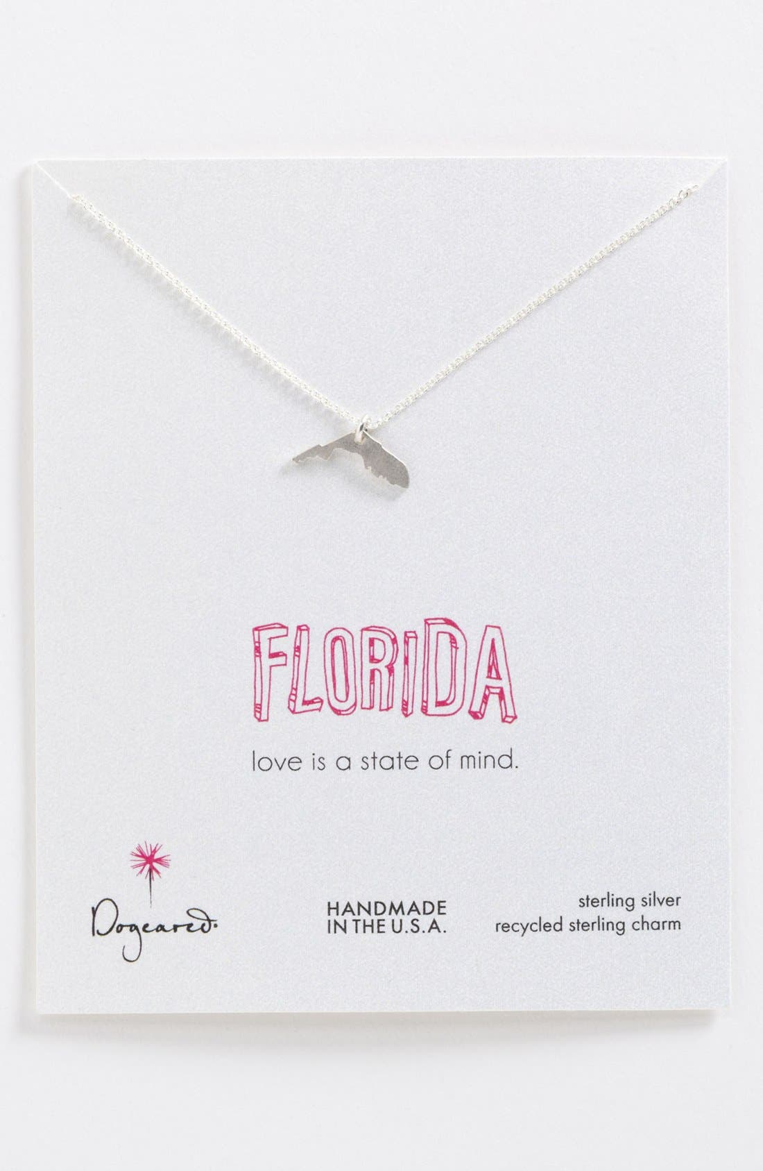 Main Image - Dogeared 'State of Mind - Florida' Pendant Necklace