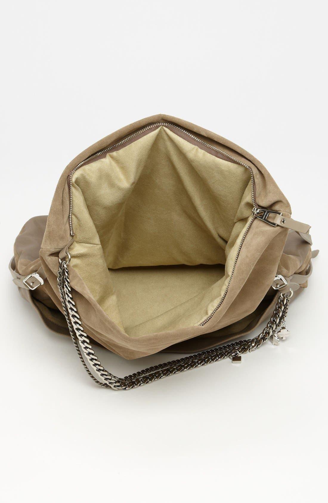 Alternate Image 3  - Jimmy Choo 'Biker - Large' Suede & Leather Crossbody Bag