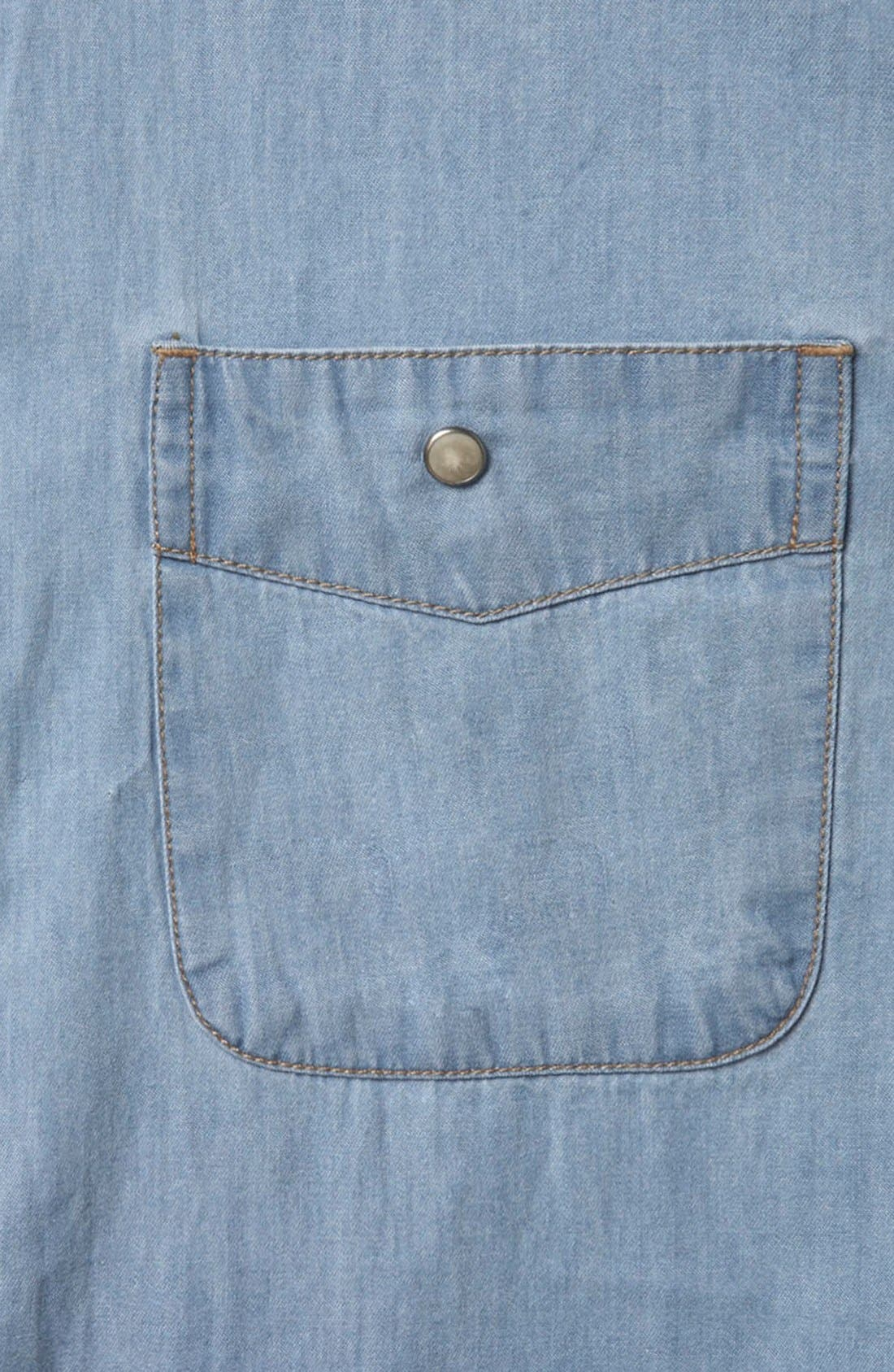 Alternate Image 3  - Topman Denim Western Shirt