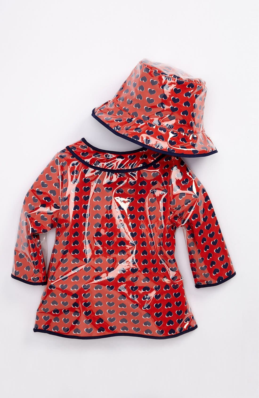 Alternate Image 2  - LITTLE MARC JACOBS Rain Coat & Hat (Baby)
