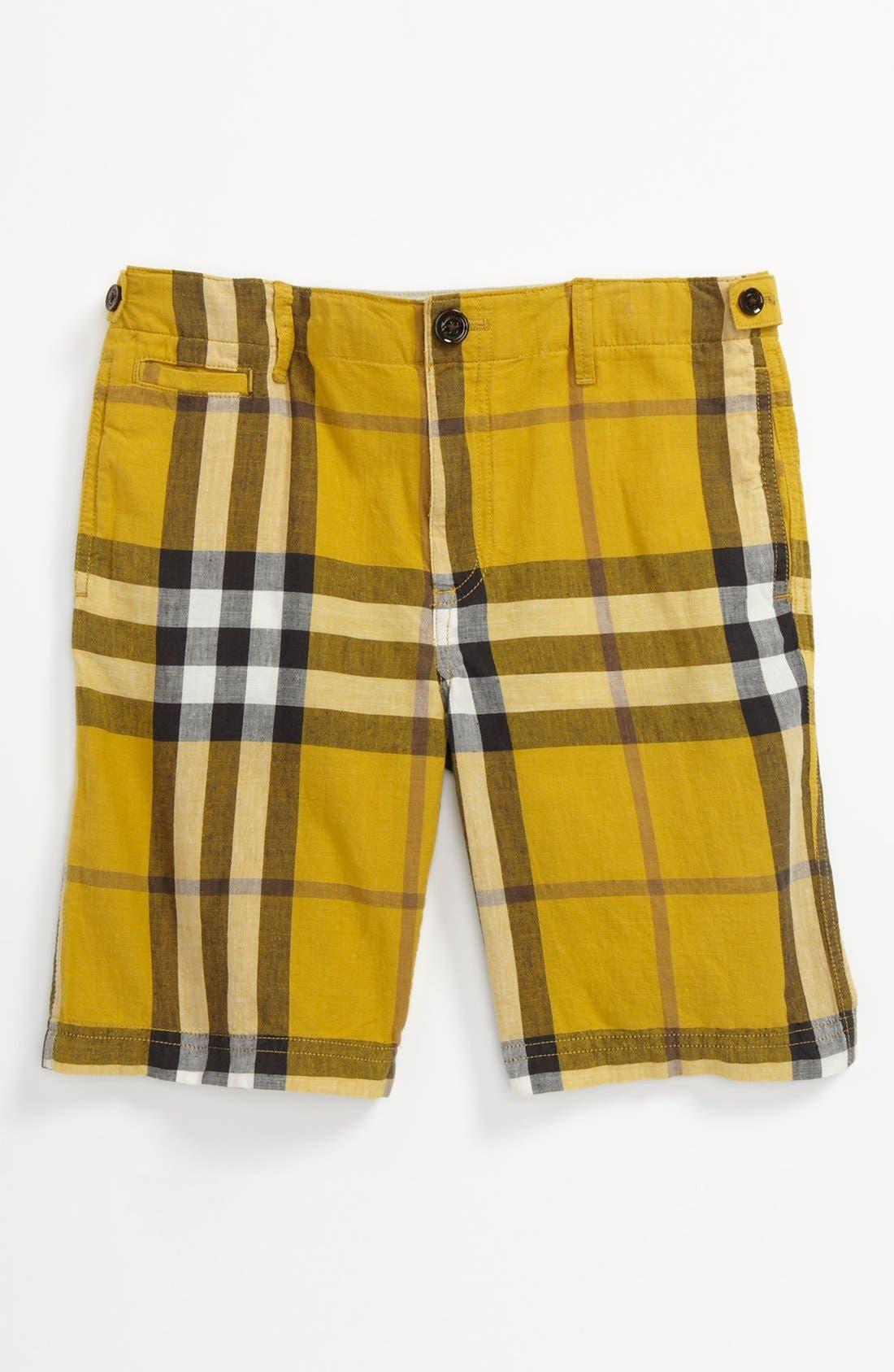 Alternate Image 1 Selected - Burberry 'Mini Workwear' Shorts (Little Boys & Big Boys)