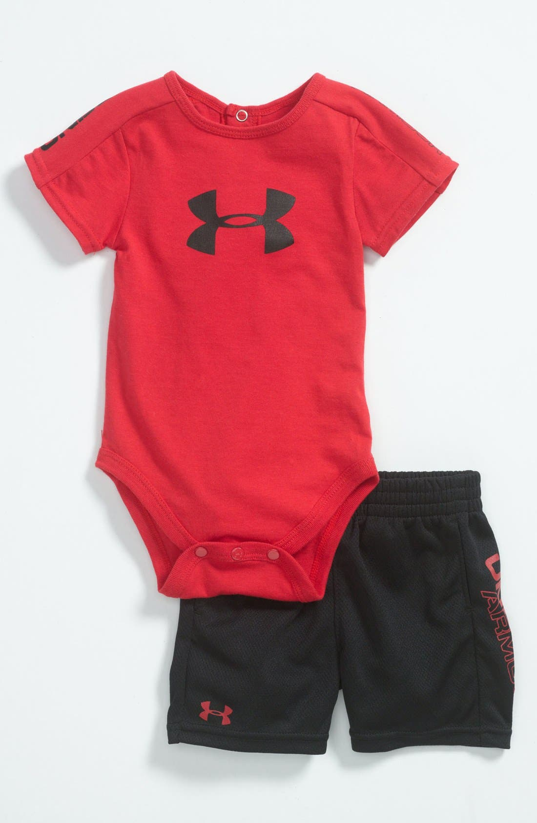 Alternate Image 1 Selected - Under Armour 'Integrity 2.0' Bodysuit & Shorts (Baby)