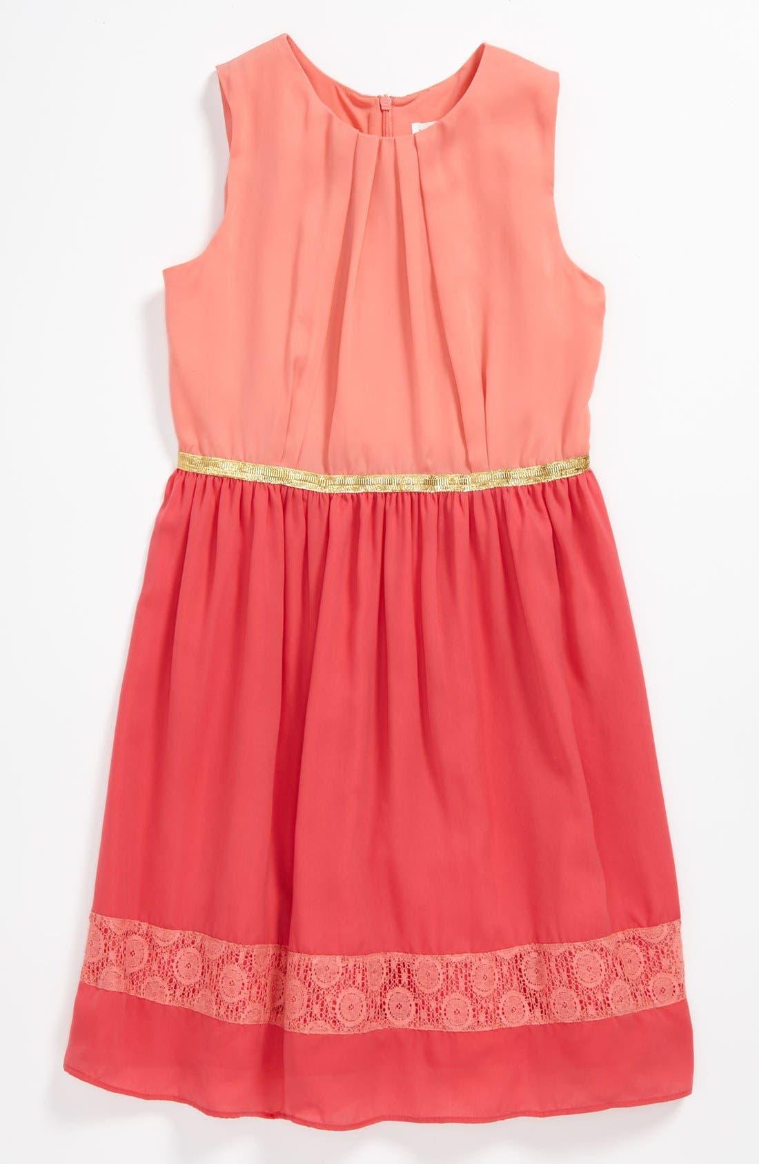 Main Image - BLUSH by Us Angels Chiffon Dress (Big Girls)