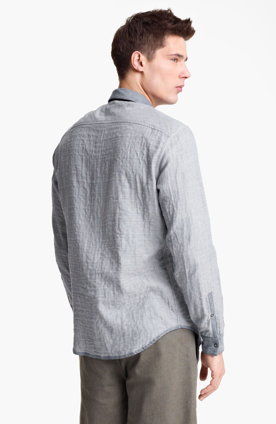 Alternate Image 2  - Rogan 'Insidoud' Reversible Chambray Shirt