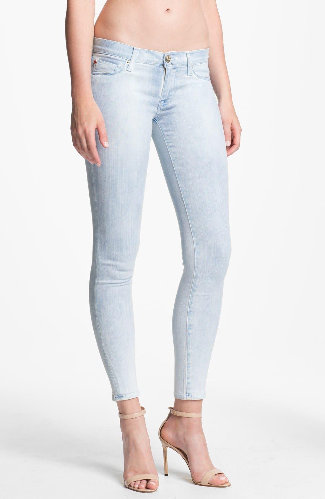 Main Image - Hudson Jeans 'Krista' Super Skinny Jeans (Bondi Blue)