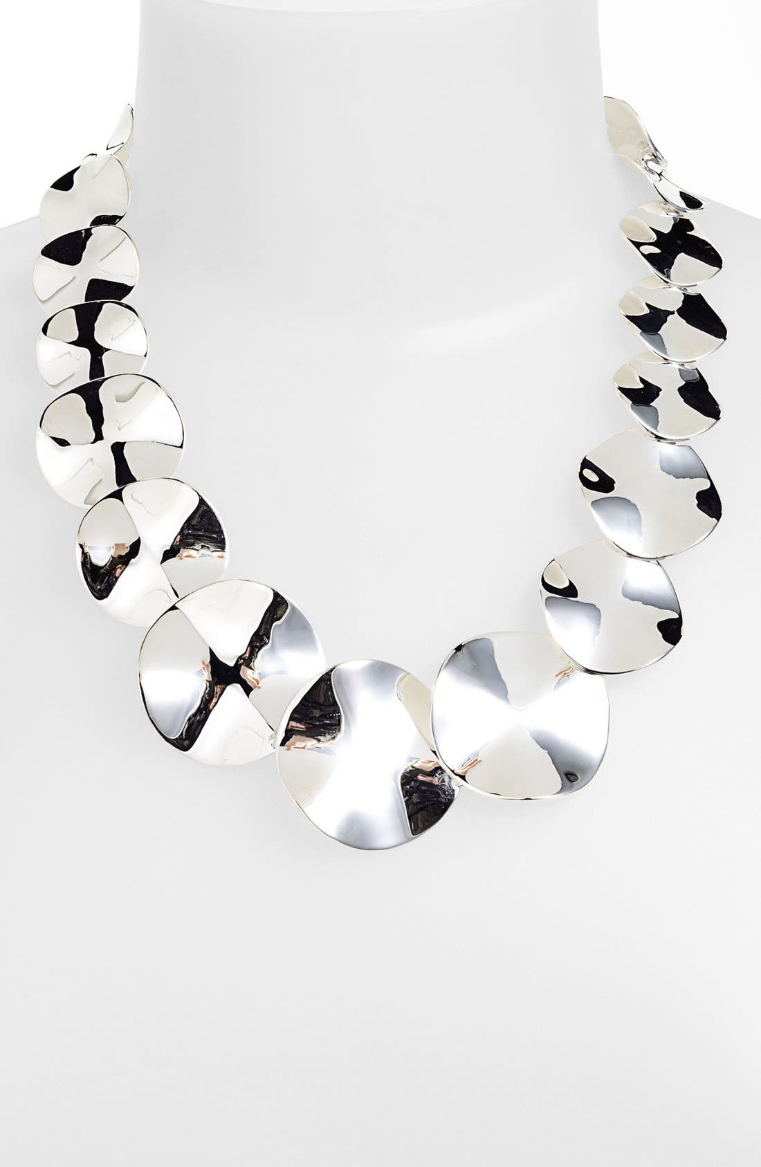 Alternate Image 1 Selected - Ippolita 'Scultura' Wavy Disc Collar Necklace