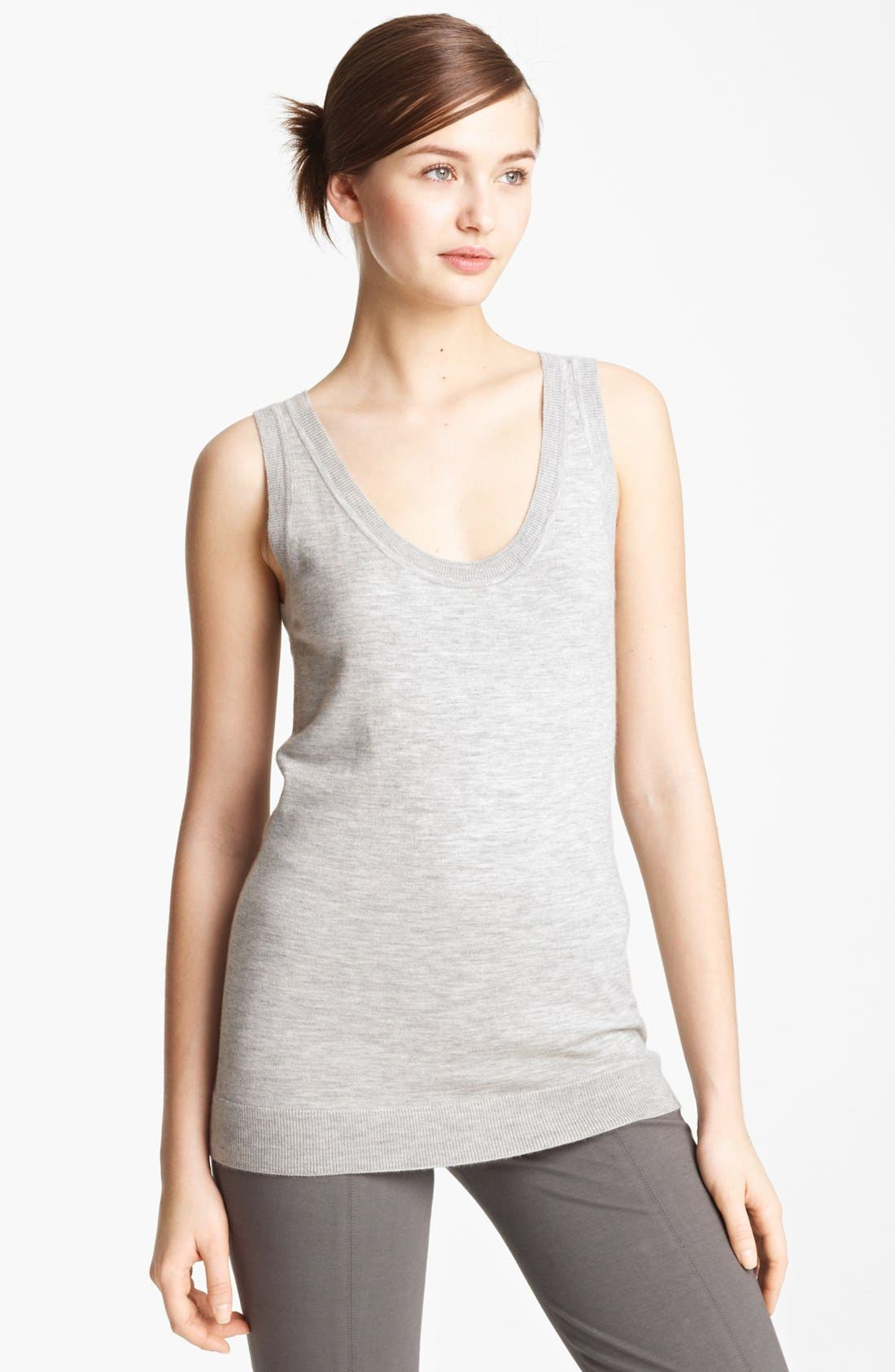 Alternate Image 1 Selected - Donna Karan Collection 'First Layer' Cashmere Tank