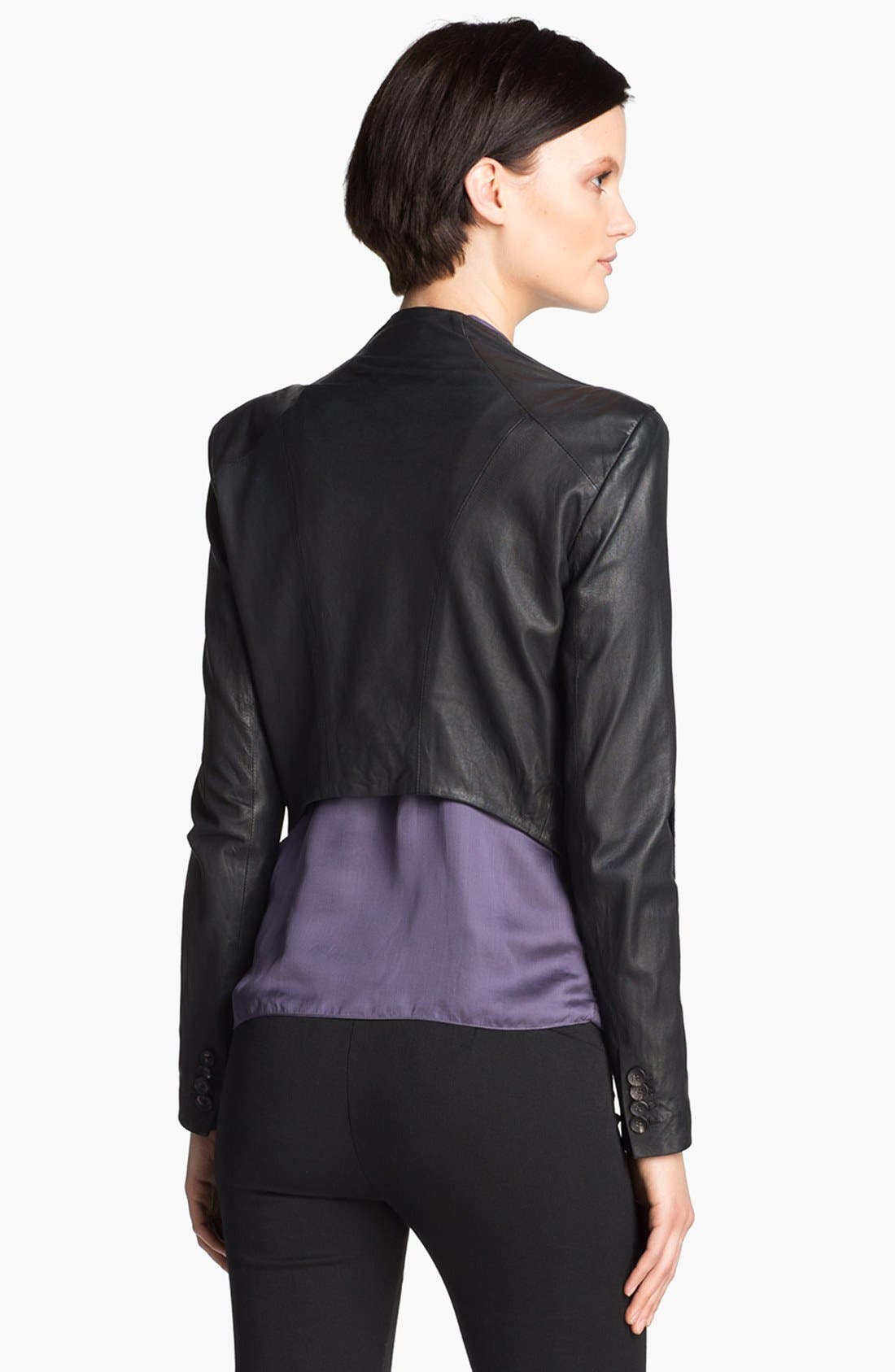 Alternate Image 4  - HELMUT Helmut Lang Washed Leather Jacket