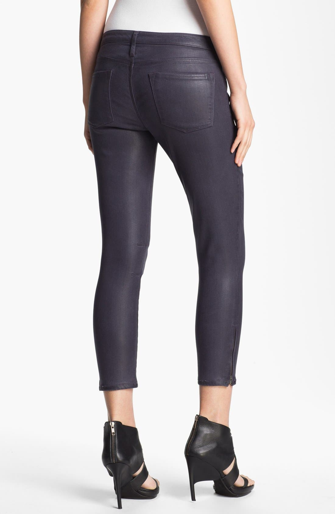 Alternate Image 2  - HELMUT Helmut Lang 'High Gloss Halo' Skinny Crop Jeans