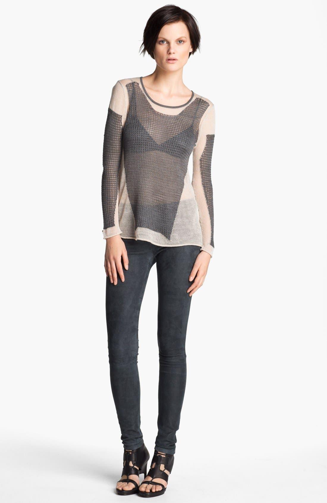 Alternate Image 1 Selected - Helmut Lang 'Modern Lace' Pullover