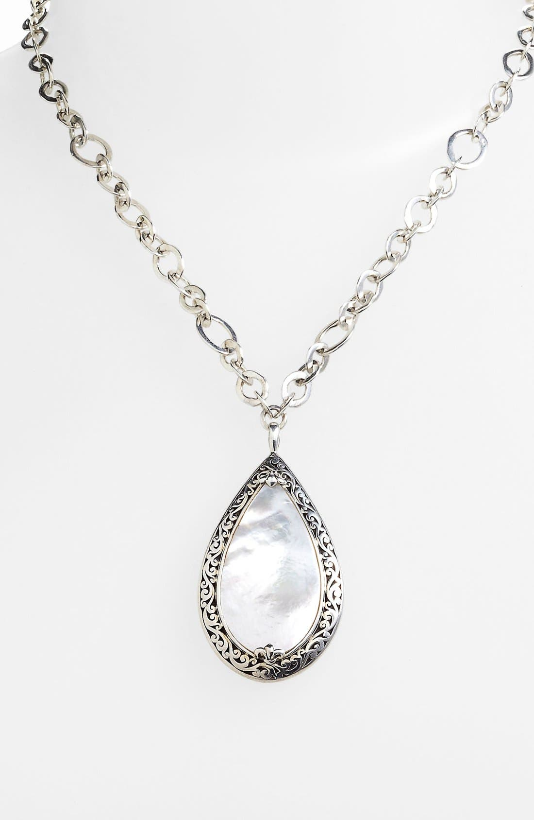 Alternate Image 2  - Lois Hill Large Mother-of-Pearl Teardrop Pendant Necklace