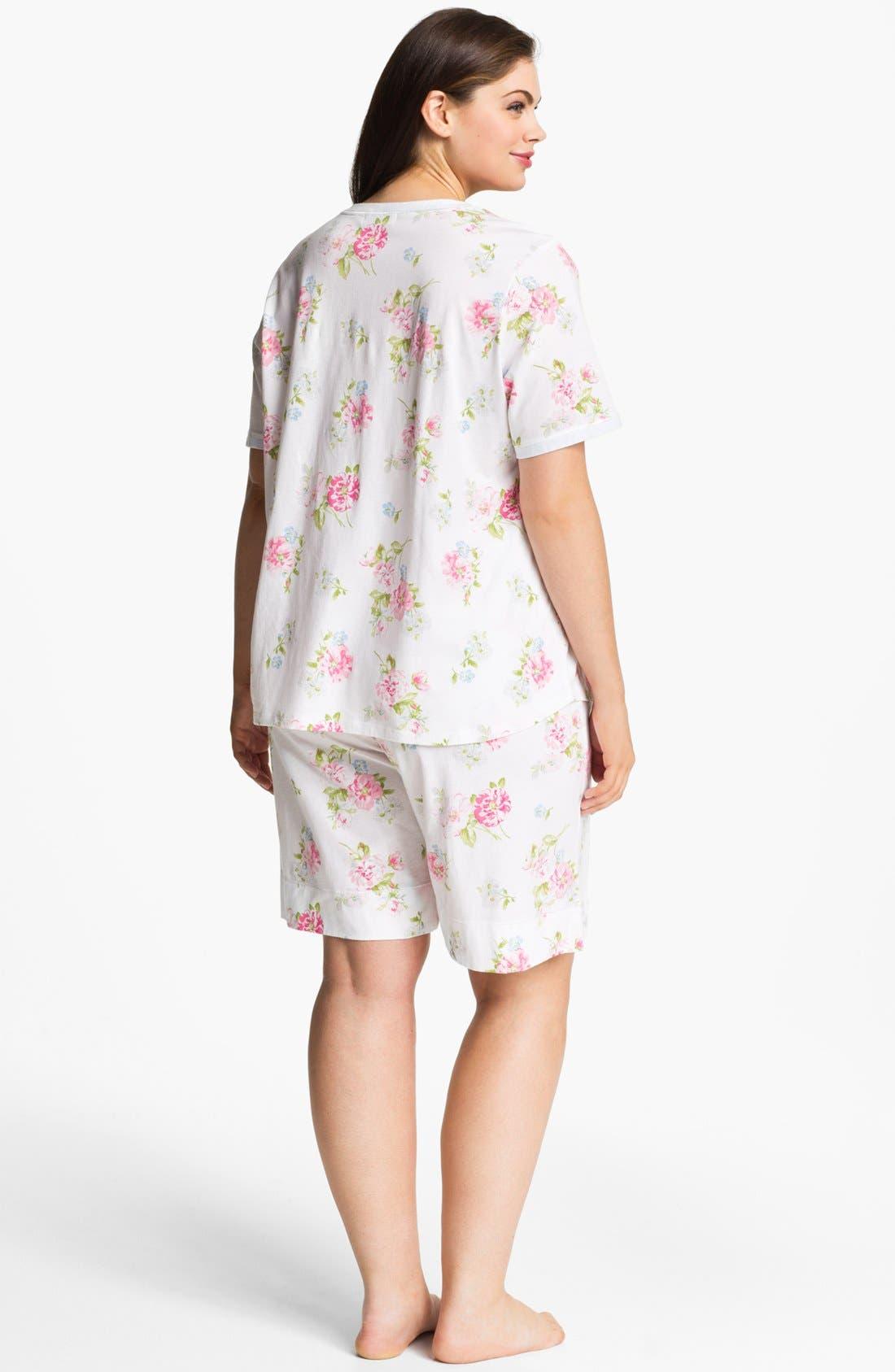 Alternate Image 2  - Carole Hochman Designs Bermuda Pajamas (Plus Size)