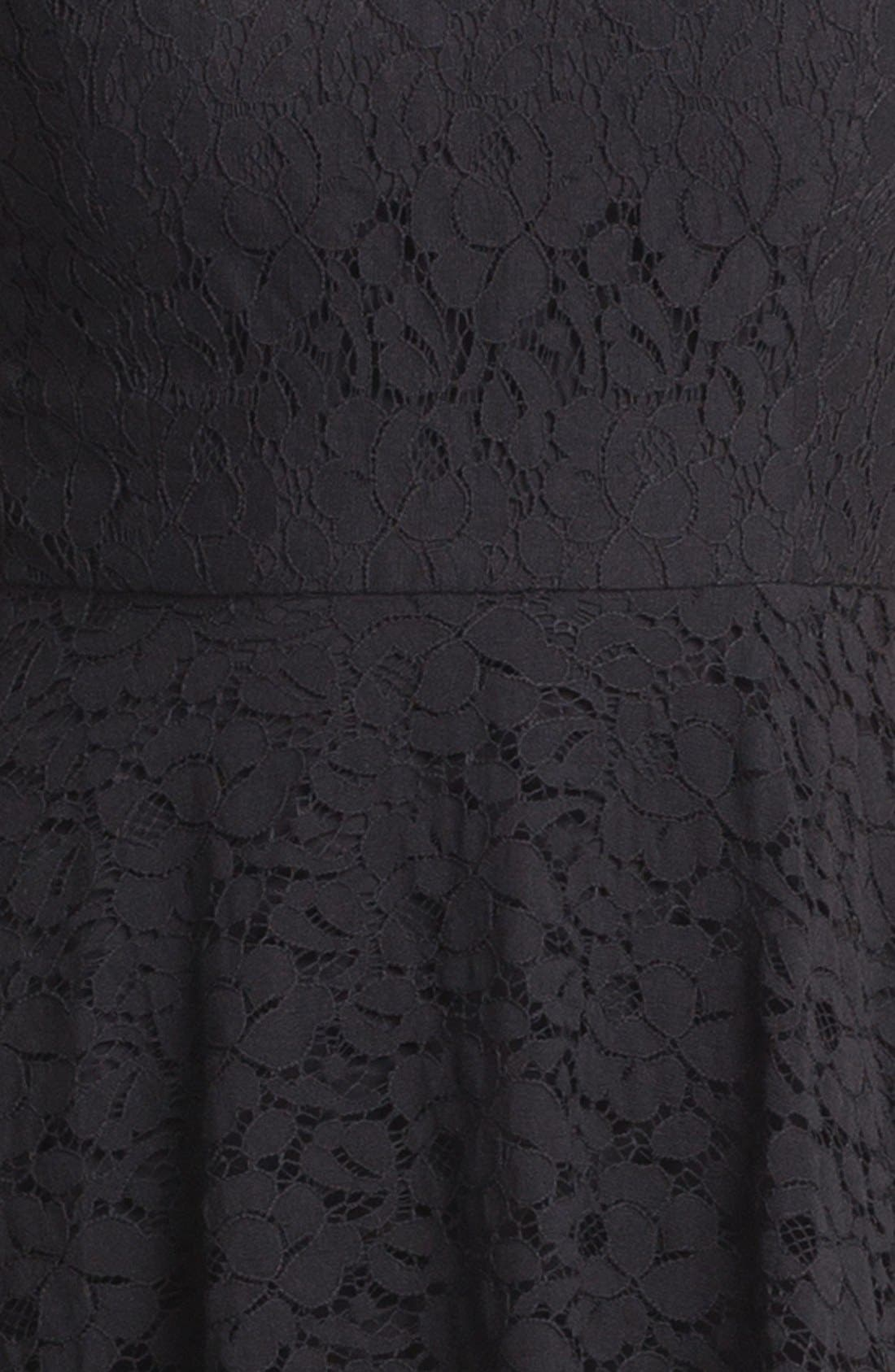 Alternate Image 3  - Donna Morgan Sleeveless Lace Fit & Flare Dress