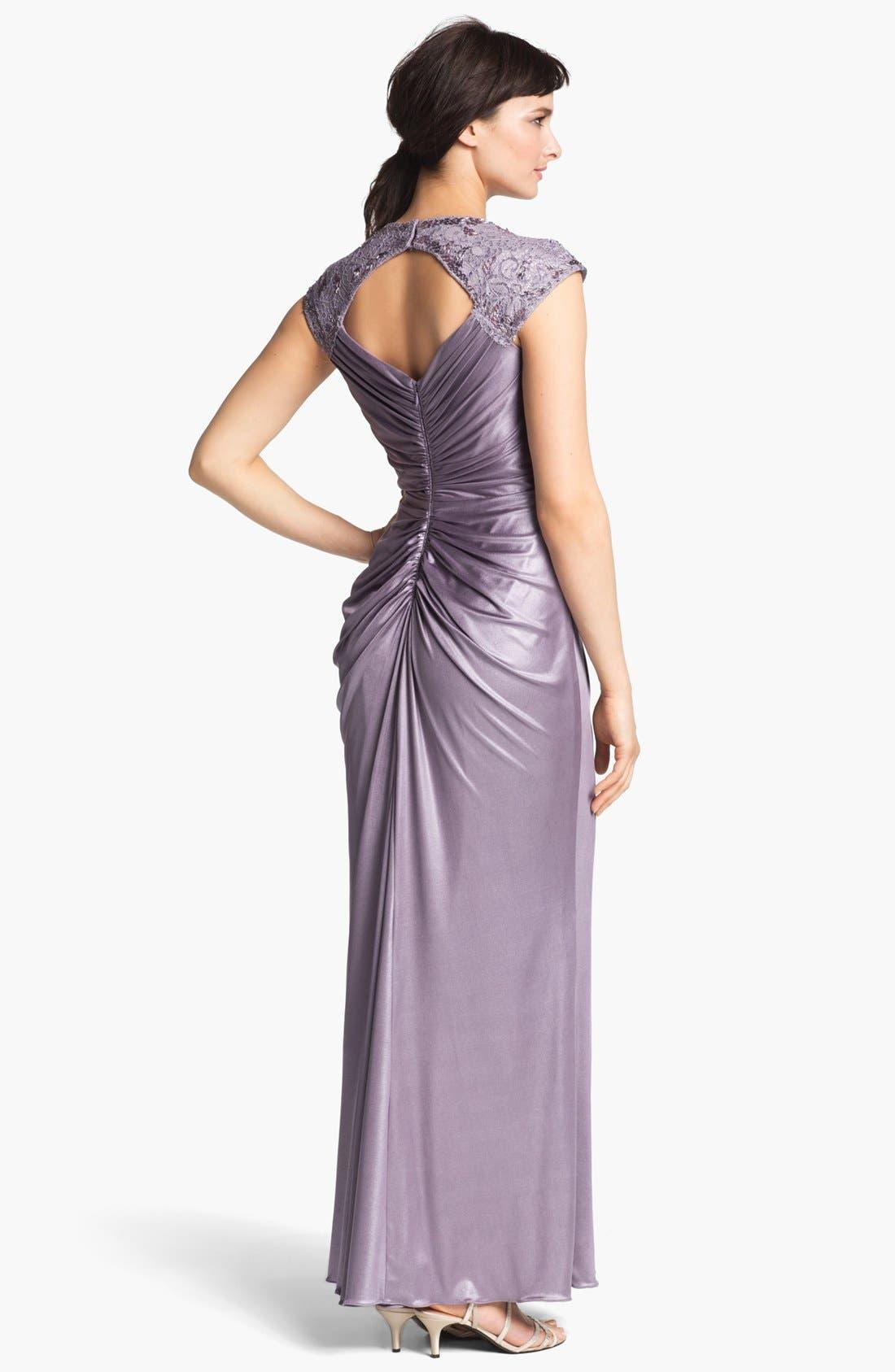Alternate Image 2  - Patra Front Twist Jersey Gown