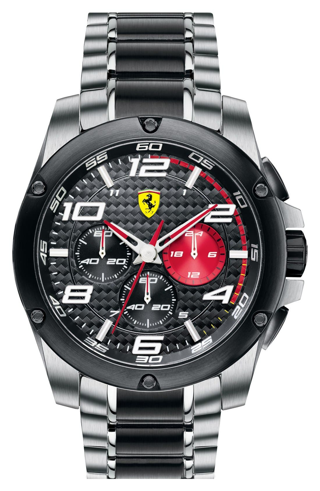 Alternate Image 1 Selected - Scuderia Ferrari 'Paddock' Chronograph Bracelet Watch, 46mm