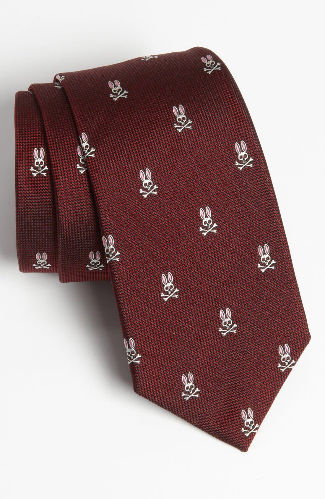 Main Image - Psycho Bunny Woven Silk Tie