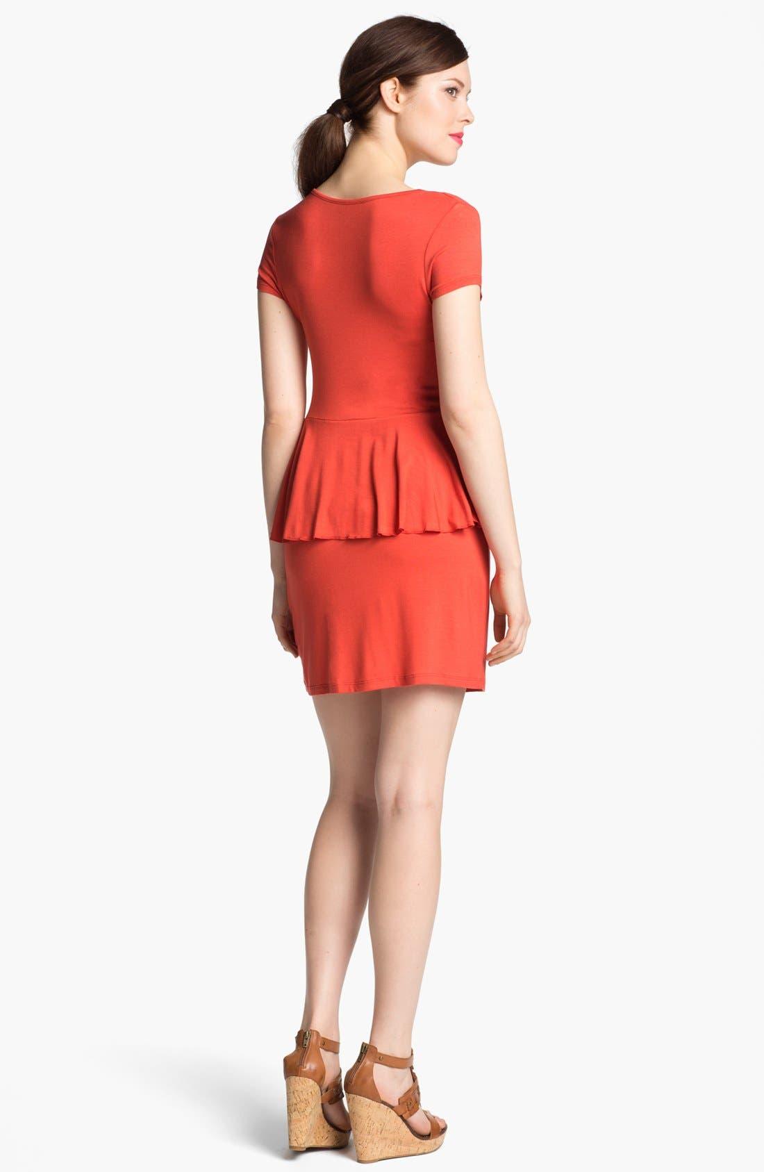 Alternate Image 2  - Kensie Knit Peplum Dress (Online Only)