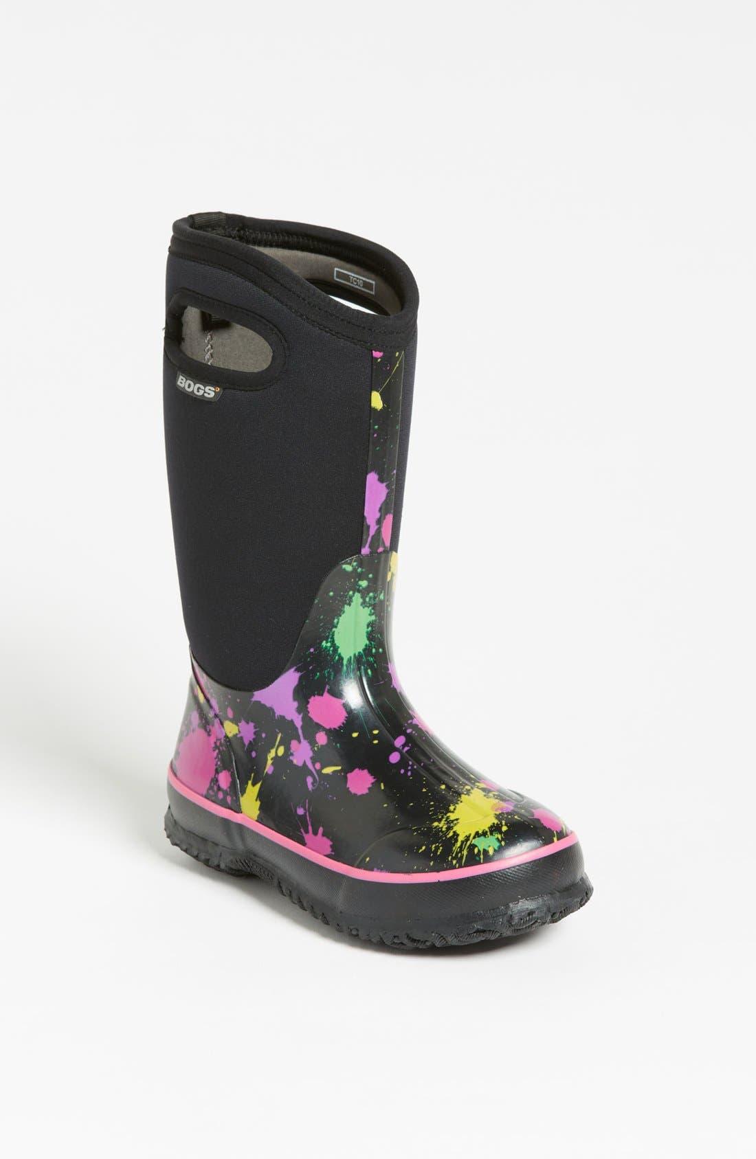 Main Image - Bogs 'Classic High - Paint Splat' Waterproof Boot (Toddler, Little Kid & Big Kid)
