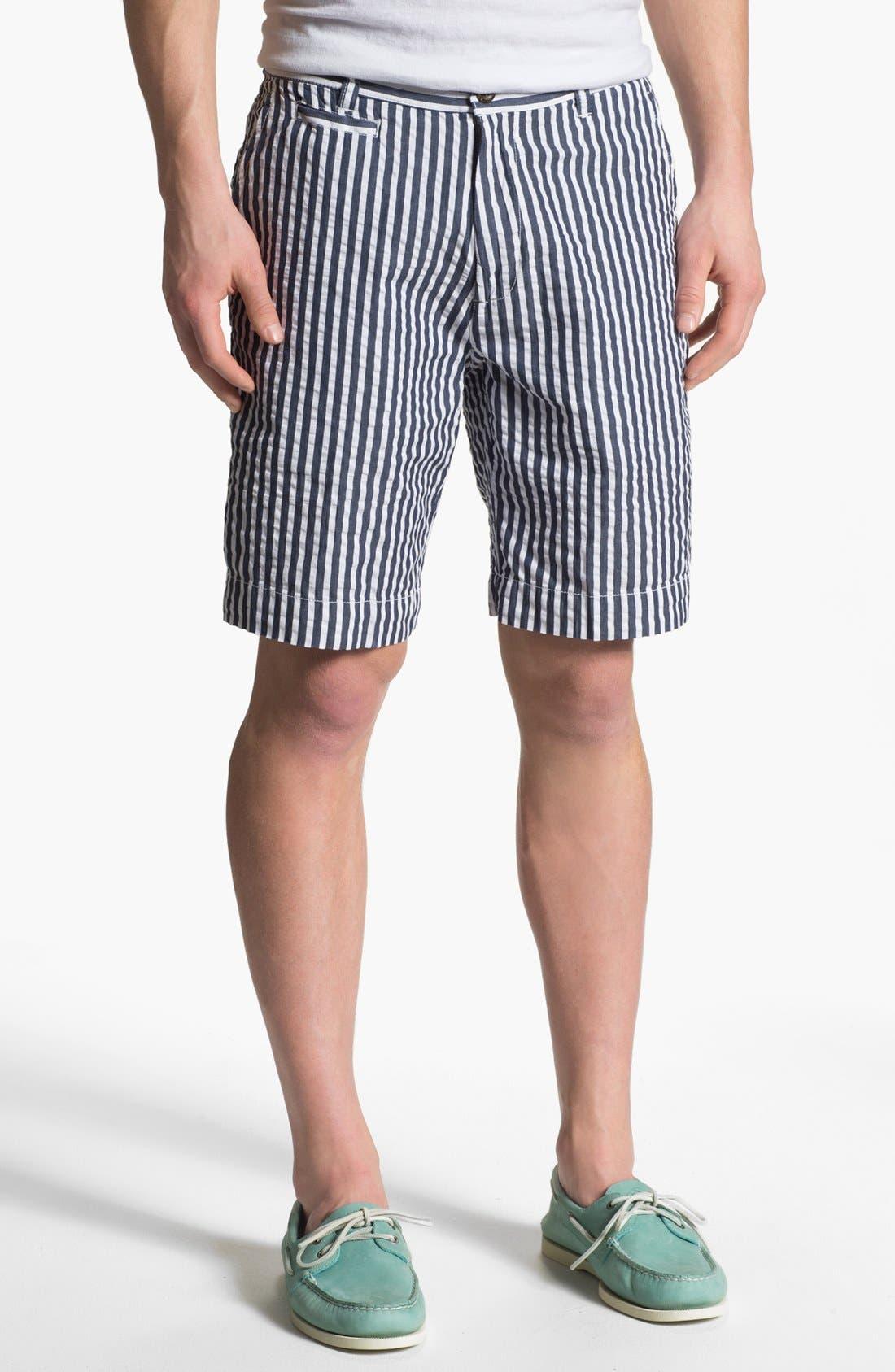 Alternate Image 1 Selected - Vintage 1946 Relaxed Fit Seersucker Bermuda Shorts