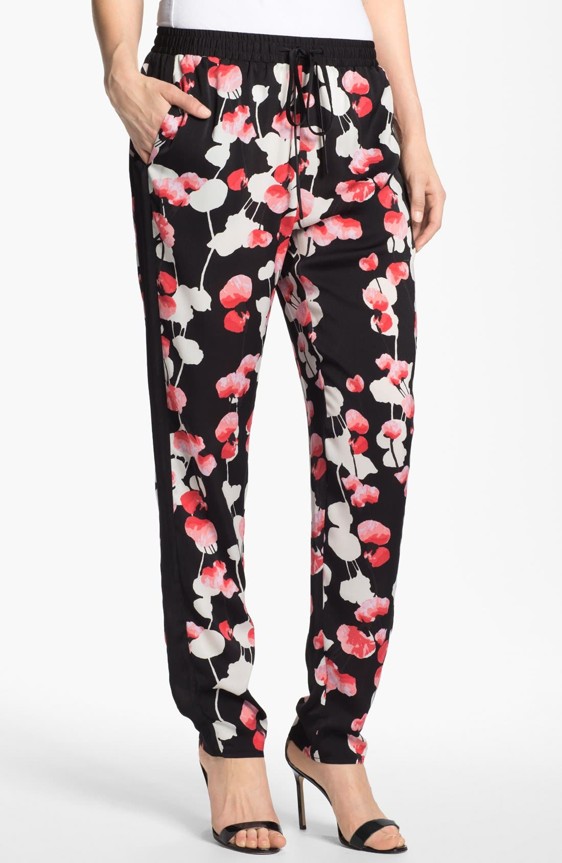 Alternate Image 1 Selected - DKNYC Print Slouchy Drawstring Pants