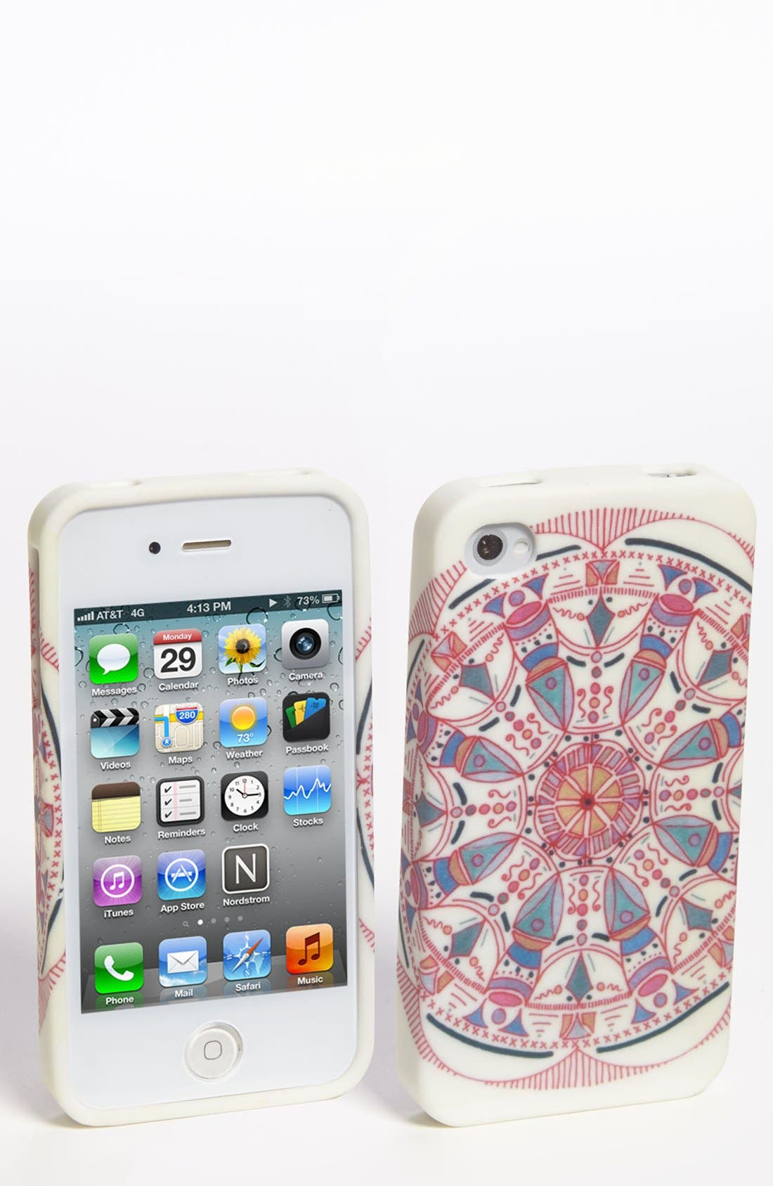 Alternate Image 1 Selected - Design Lab Paisley Pattern iPhone 4 & 4S Case