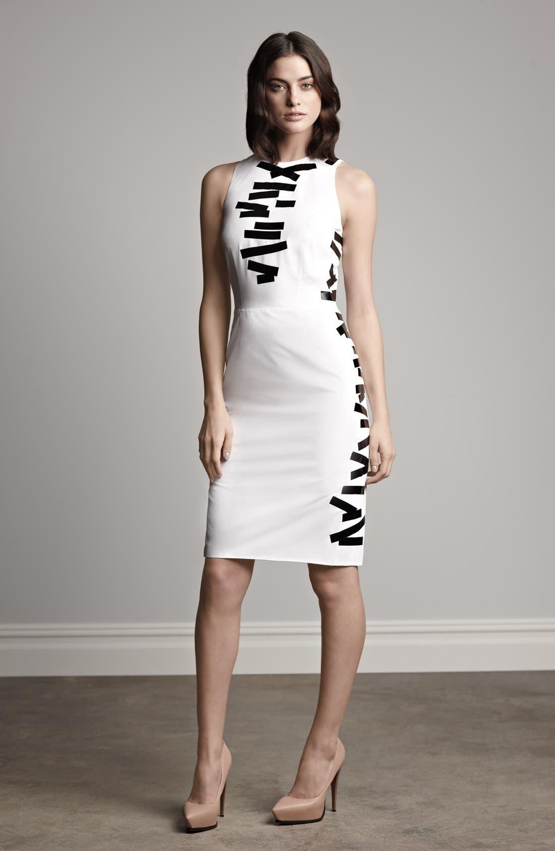 Alternate Image 4  - Christopher Kane Tape Detail Sheath Dress