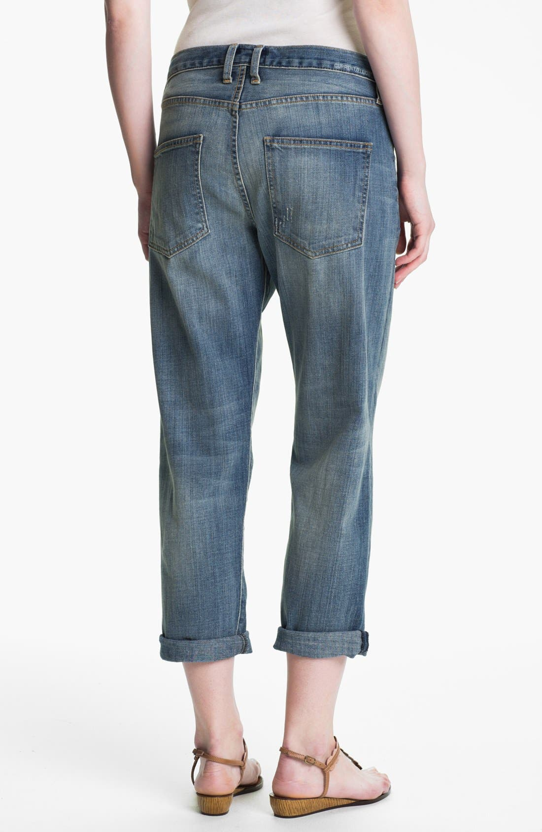 Alternate Image 2  - Current/Elliott 'The Boyfriend Jean' Jeans (Super Loved)