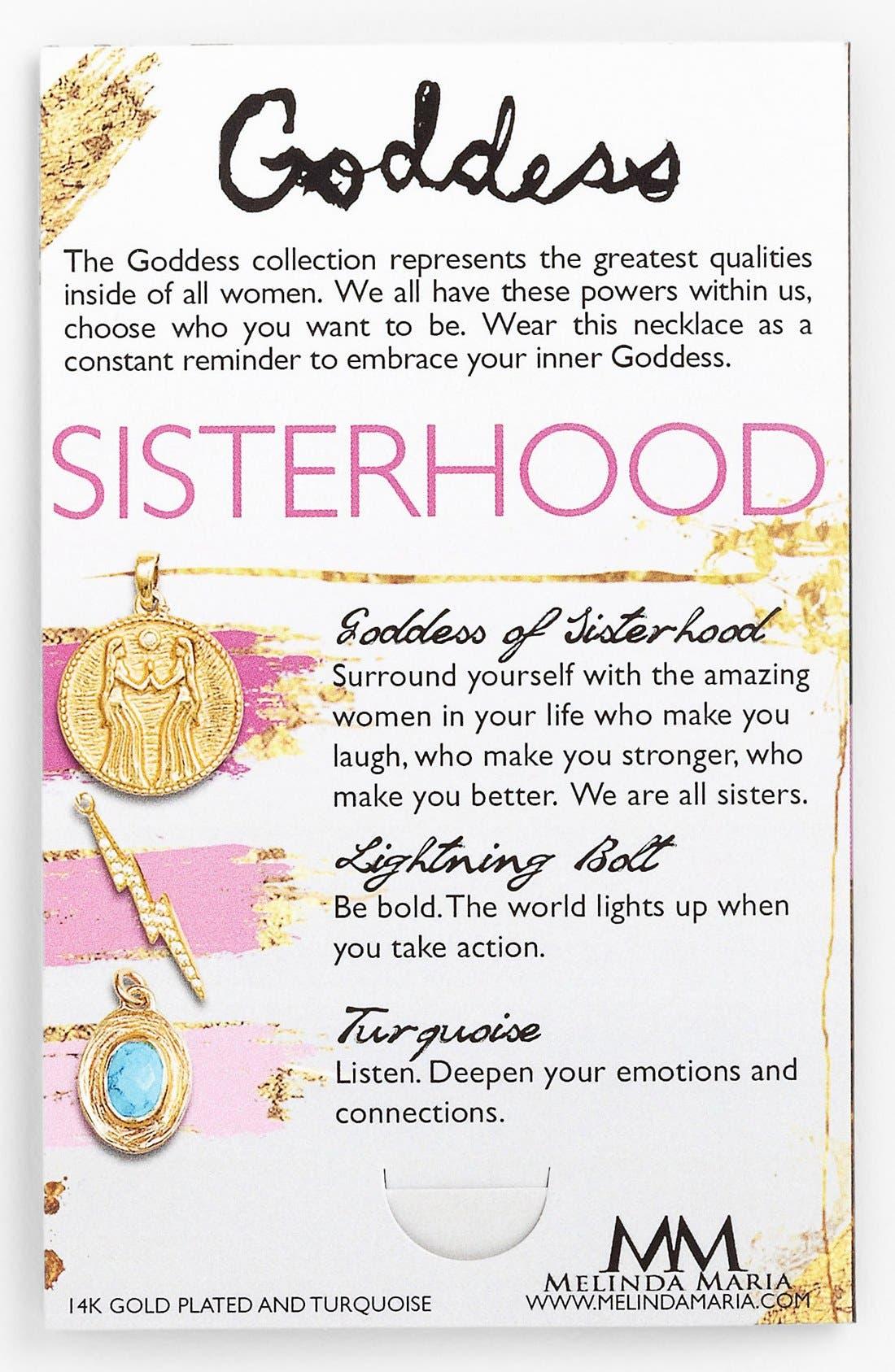 Alternate Image 2  - Melinda Maria 'Goddess of Sisterhood' Cluster Pendant Necklace
