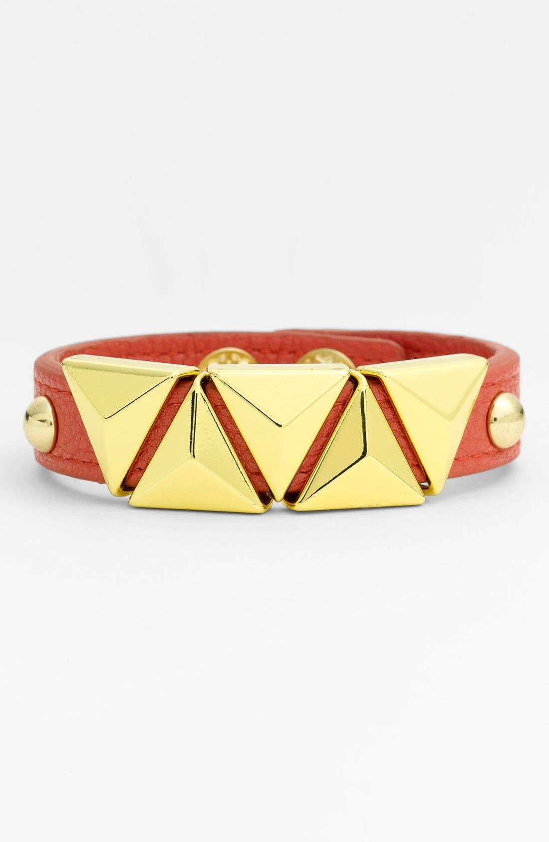 Alternate Image 1 Selected - BCBGeneration 'Triangle Pyramid' Faux Leather Bracelet