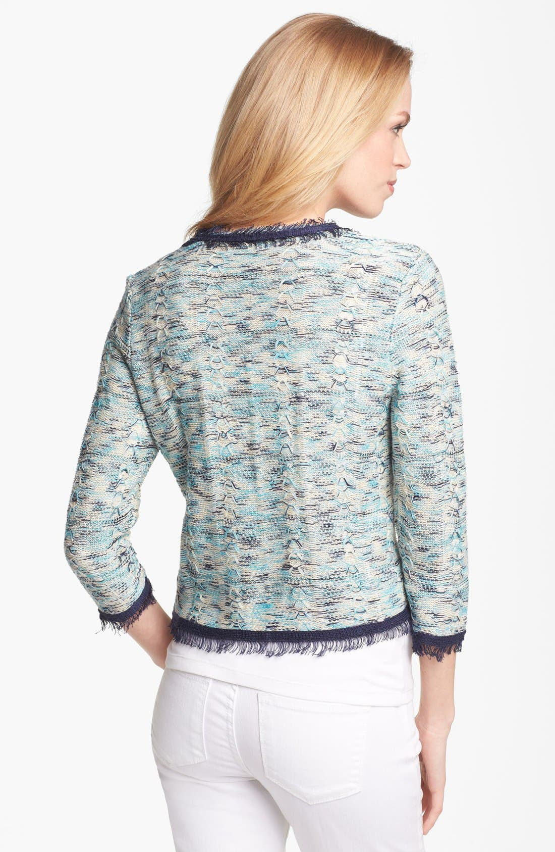 Alternate Image 2  - Nic + Zoe Tweed Knit Jacket (Petite)