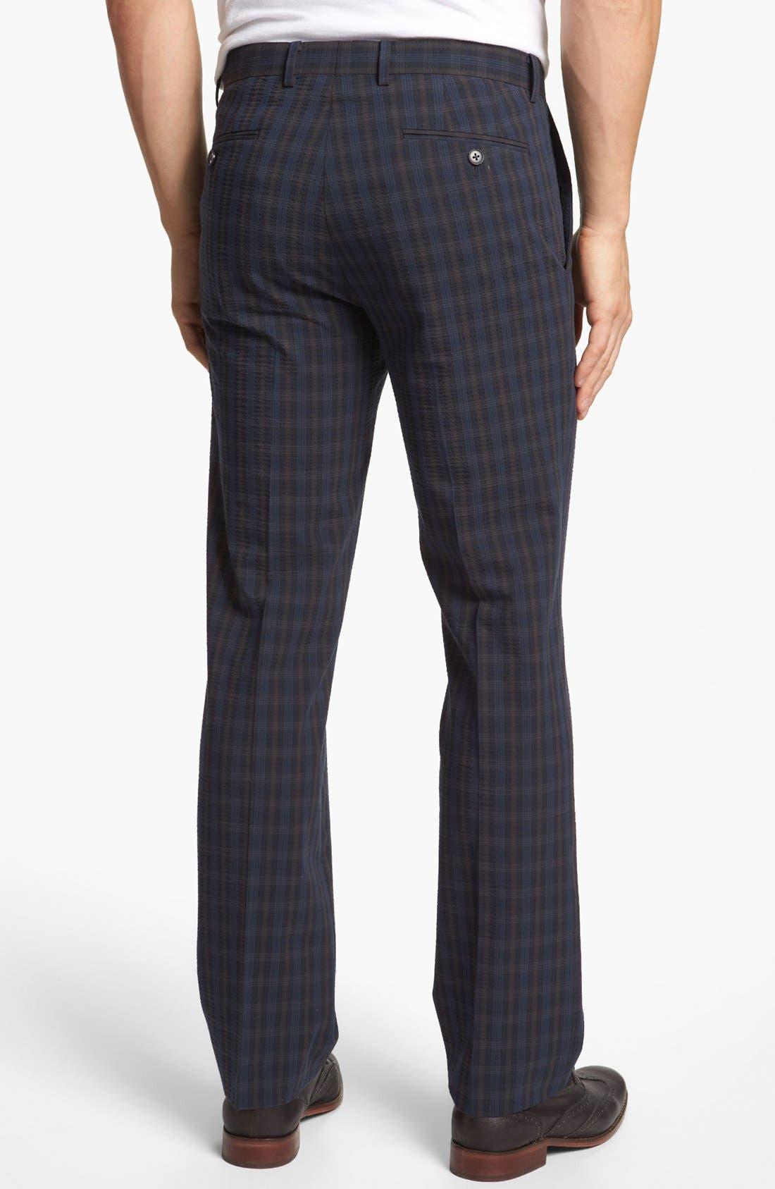 Alternate Image 2  - John Varvatos Star USA Red Label 'Petro' Seersucker Plaid Trousers