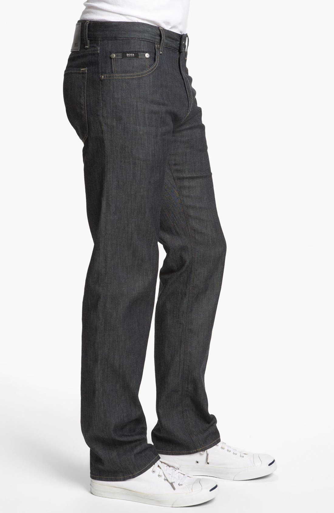 Alternate Image 3  - BOSS HUGO BOSS 'Maine' Straight Leg Jeans (Rinse)