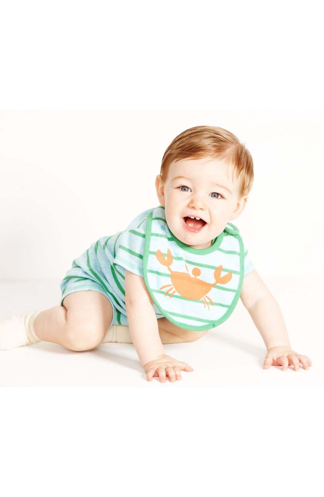Alternate Image 2  - Stem Baby Organic Cotton Romper & Bib (Baby)