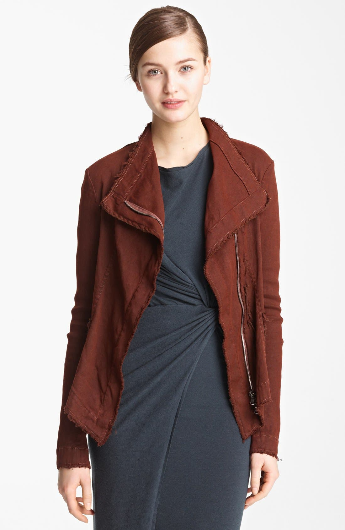 Main Image - Donna Karan Collection Washed Stretch Canvas Jacket