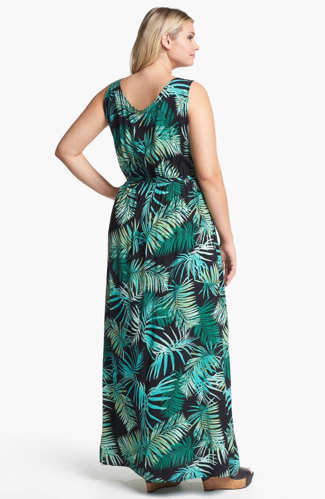 Alternate Image 2  - Eight Sixty Print Sleeveless Maxi Dress (Plus Size)