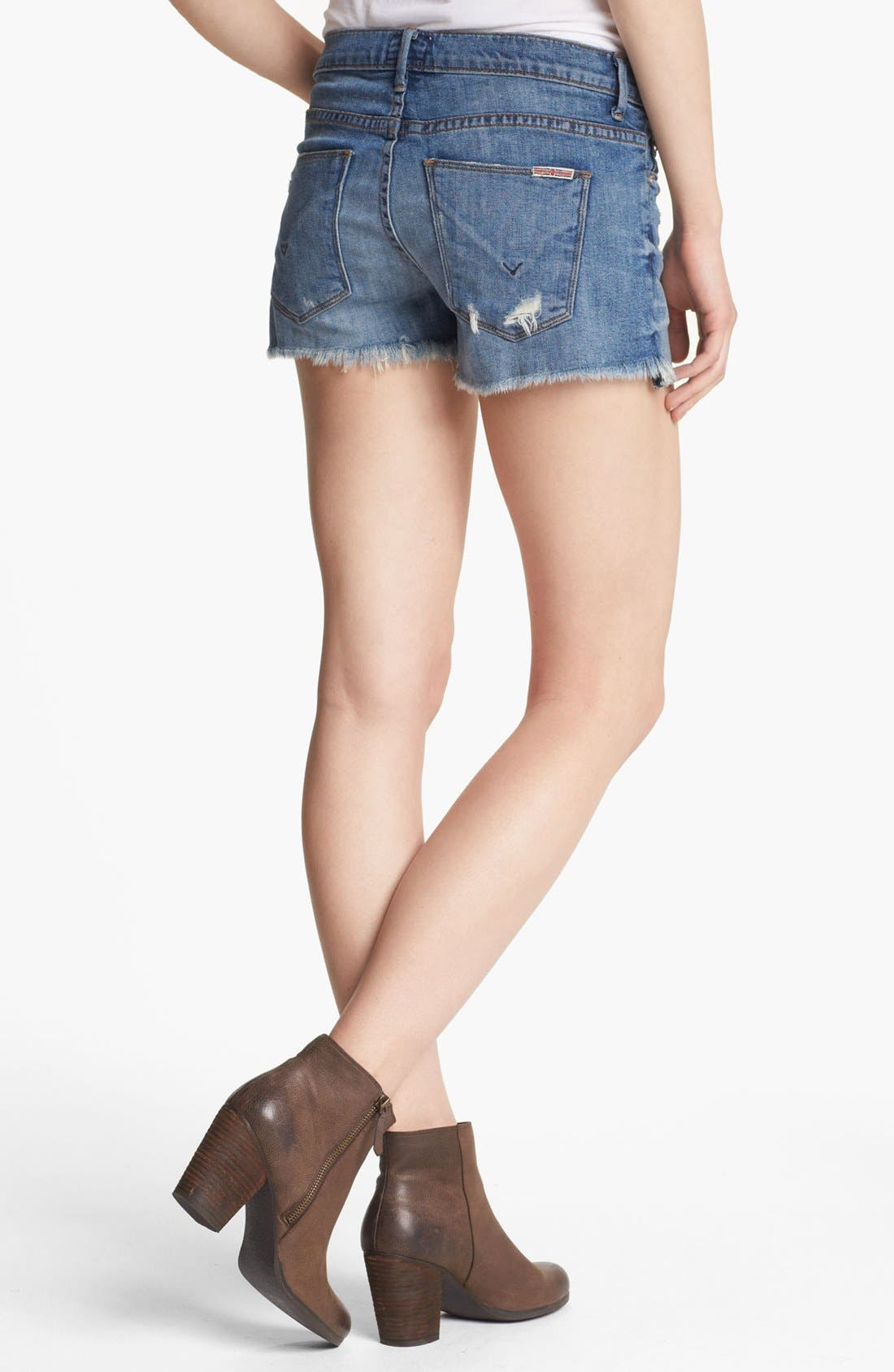 Alternate Image 2  - Hudson Jeans 'Amber' Raw Edge Denim Shorts (Indie)