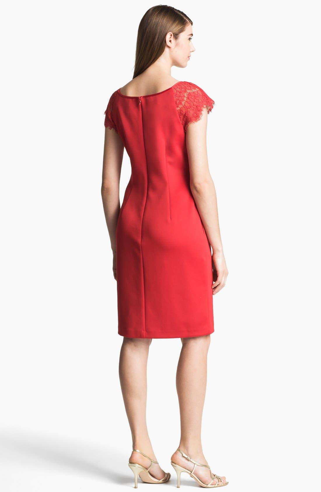 Alternate Image 2  - Alex Evenings Illusion Sleeve Sheath Dress