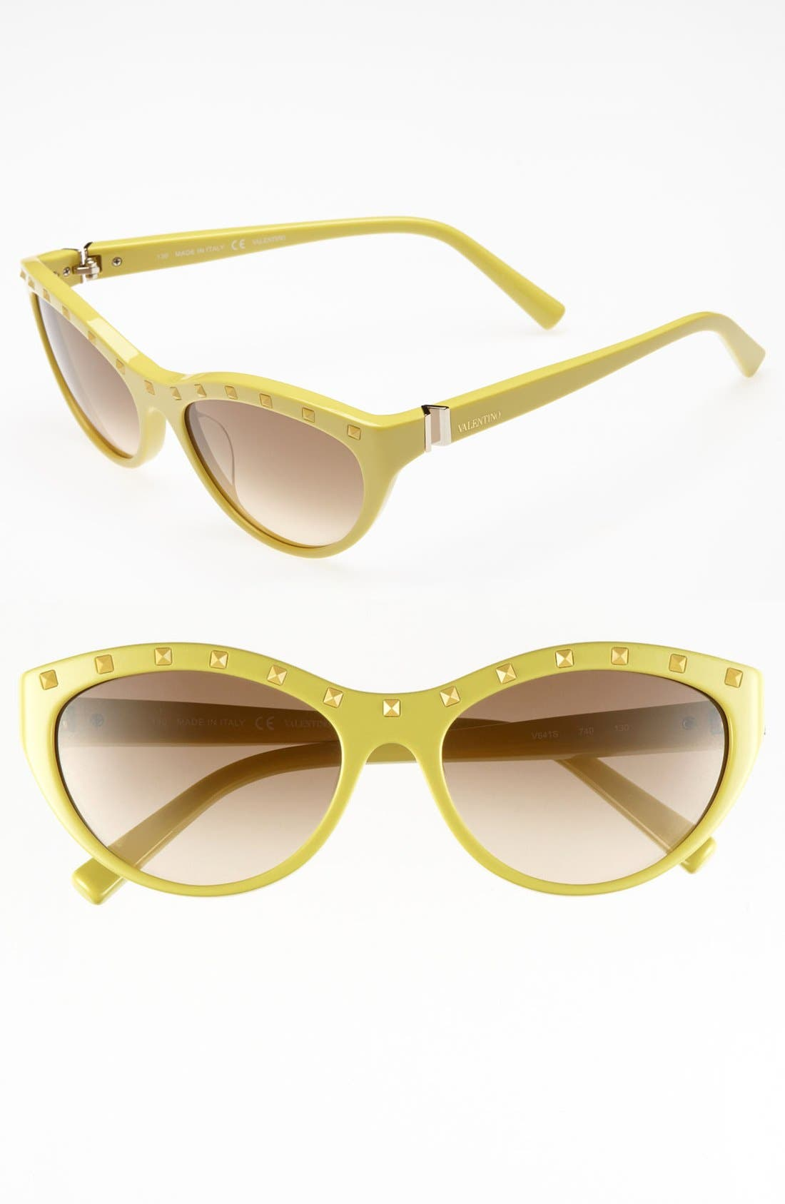 Alternate Image 1 Selected - Valentino 54mm 'Rockstud' Cat's Eye Sunglasses (Online Only)