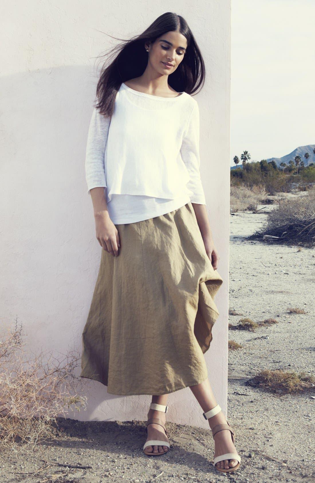 Alternate Image 7  - Eileen Fisher A-Line Linen Skirt (Regular & Petite)