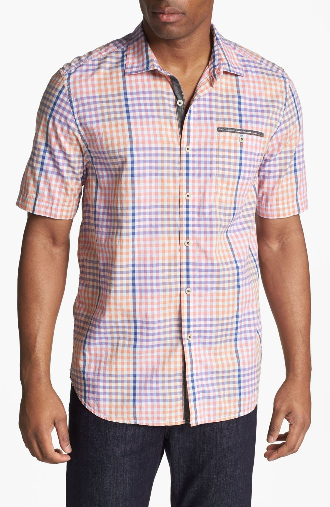 Alternate Image 1 Selected - Tommy Bahama 'United Gingham' Short Sleeve Sport Shirt