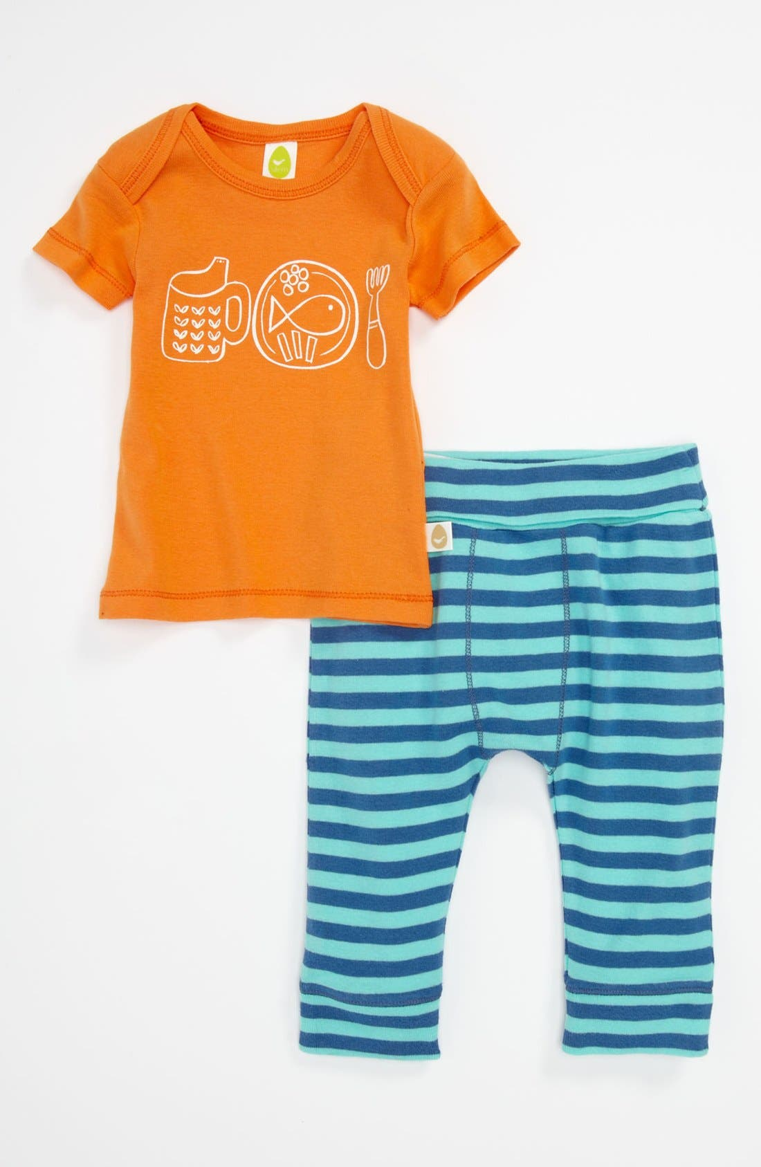 Alternate Image 1 Selected - Stem Baby Organic Cotton Top & Pants (Baby)