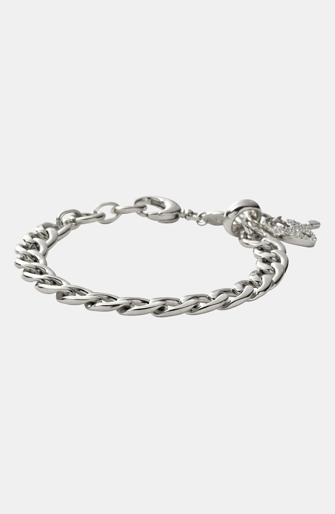 Alternate Image 2  - Fossil Curb Link Charm Bracelet